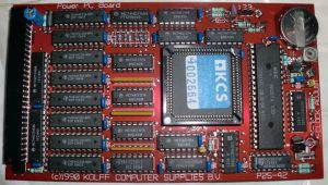 The KCS Power PC Board close-up (photo by Old-school Game Blog)