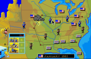 The main map (screenshot by Old School Game Blog)