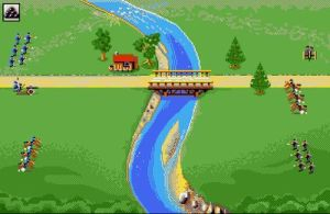 Crossing the Potomac (screenshot by Old School Game Blog)