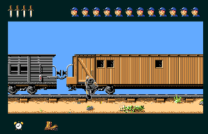 Train robbery a'la 1863 (screenshot by Old School Game Blog)