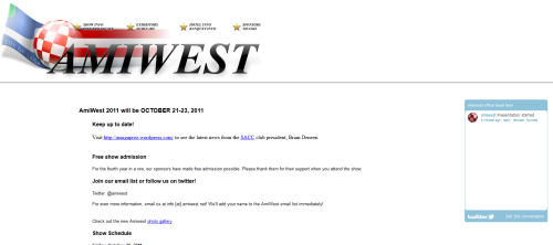 The AmiWest Homepage (snapshot by Old School Game Blog)
