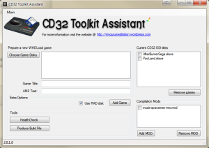 A screenshot of the CD32 Toolkit Assistant (taken from http://mygurumeditation.wordpress.com/cd32-toolkit-assistant-help/)
