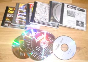 Large amount of CD's.. games compilations, CU Amiga CD's and much, much more.. (photo by Old School Game Blog)