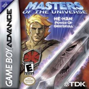 He-Man goes mobile with the GBA version (scan taken from http://forums.ffshrine.org/f72/masters-universe-he-man-gameboy-advance-ost-79657/)