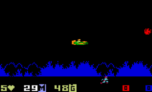 He-Man on the Intellivision (screenshot taken from http://videogamecritic.net/intelmr.htm)