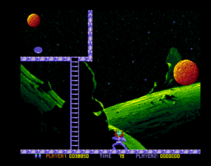 A ladder! (screenshot by Old School Game Blog)
