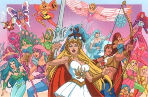 The cast of She-Ra: Princess of Power (taken from http://www.badreputation.org.uk/2011/07/28/inspirational-fictional-feminists-she-ra/)