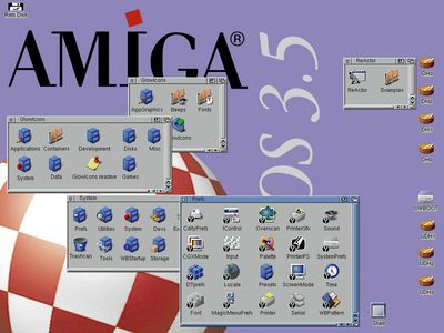AmigaOS 3.5 in action (taken from http://os.amigaworld.de/index.php?lang=en&page=16)