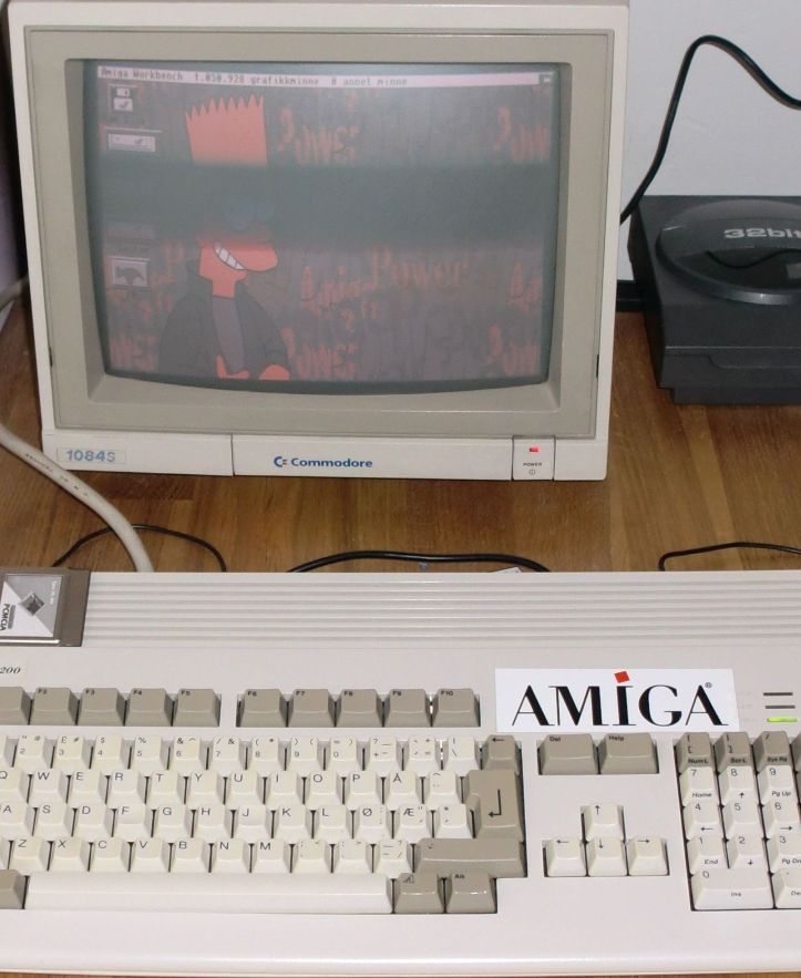 My new Commodore 1084S monitor (photo by Old School Game Blog)