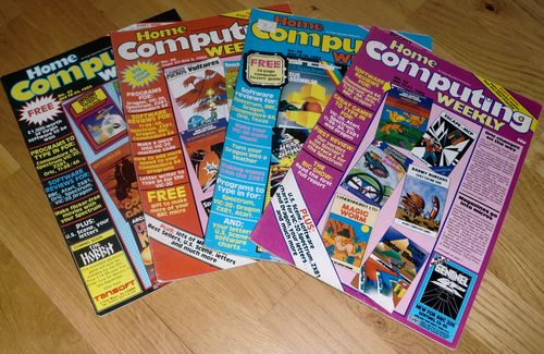 Home Computing Weekly mags in excellent condition (photo by Old School Game Blog)
