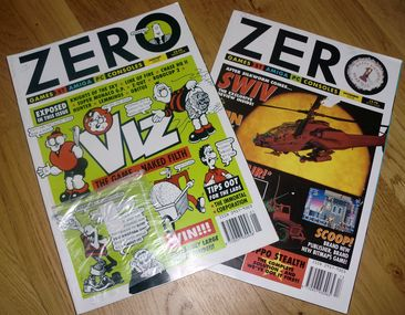 Two Zero magazines. These covered both the Atari ST and the Amiga. (photo by Old School Game Blog)