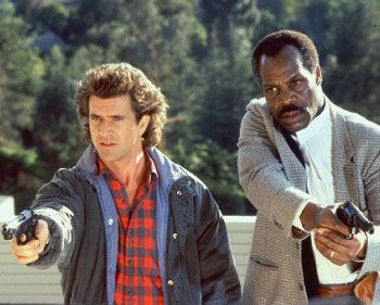 A picture from Lethal Weapon showing Riggs to the left and Murtaugh to the right (photo taken from http://www.moviesonline.ca/AdvHTML_Upload/lethal_weapon_1.jpg)