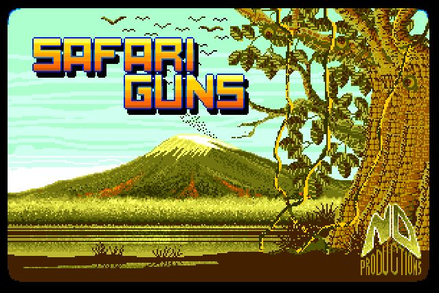 Safari Guns for the Amiga 500 - This is the intro picture (snapshot by Old School Game Blog)