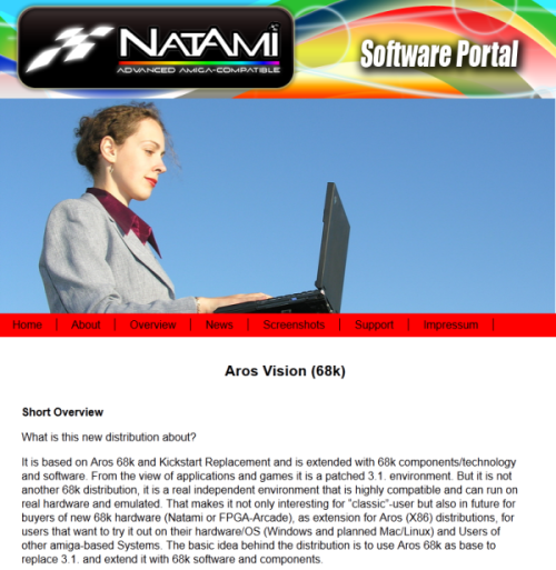 AROS Vision - Power the Natami? (screenshot by Old School Game Blog)