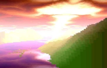 The colourful voxel effect (screenshot by Old School Game Blog)