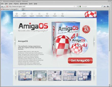 Timberwolf and AmigaOS.net (picture taken from Amigaos.net)