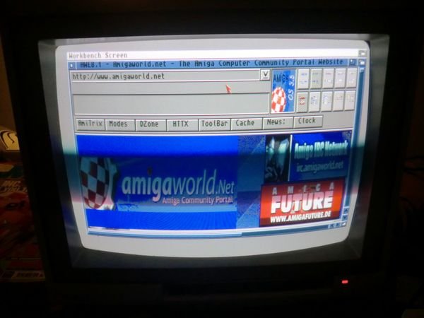 Visiting Amigaworld.net (photo by Old School Game Blog)