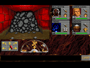 A screenshot from Eye of the Beholder on the Amiga (picture taken from Classicamiga.com)
