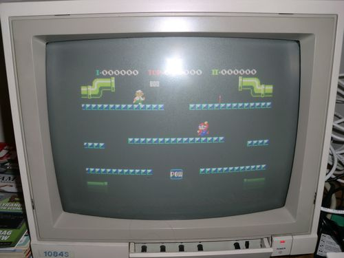 Mario Bros (NES) running in A/NES on my Amiga 1200 (photo by Old School Game Blog)