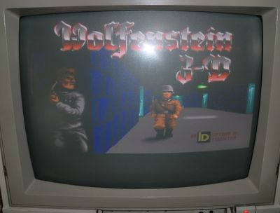Wolfenstein 3D on the Amiga (photo by Old School Game Blog)