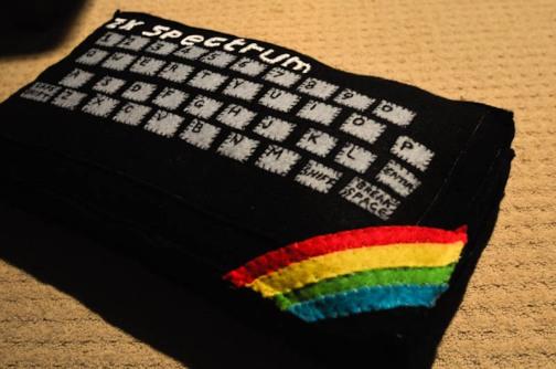 Something for the ZX Spectrum fan! (photo taken from http://www.feltsewgood.com/shop/zx-spectrum-cushion/)