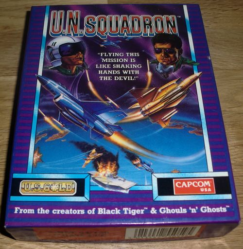U.N. Squadron for the Commodore 64 (photo by Old School Game Blog)