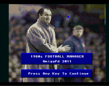 A screenshot for the upcoming game: 1980's Football Manager (picture taken from http://amosgames.weebly.com/slideshow.html)