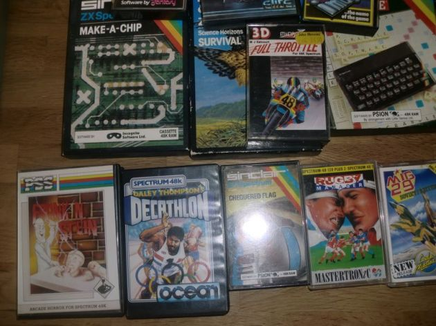 Bundle of Spectrum titles (photo by Old School Game Blog)