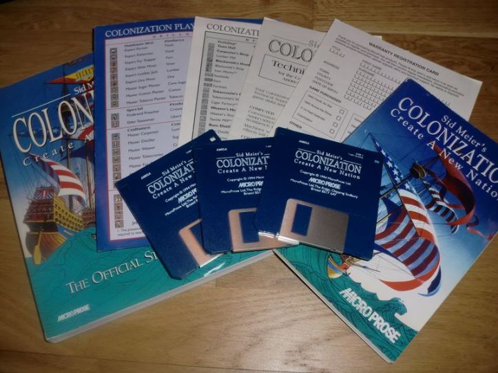 Colonization for the Amiga (photo by Old School Game Blog)