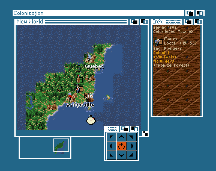 Colonization on the Amiga (screenshot taken from Classicamiga.com - http://www.classicamiga.com/content/view/1335/62/)