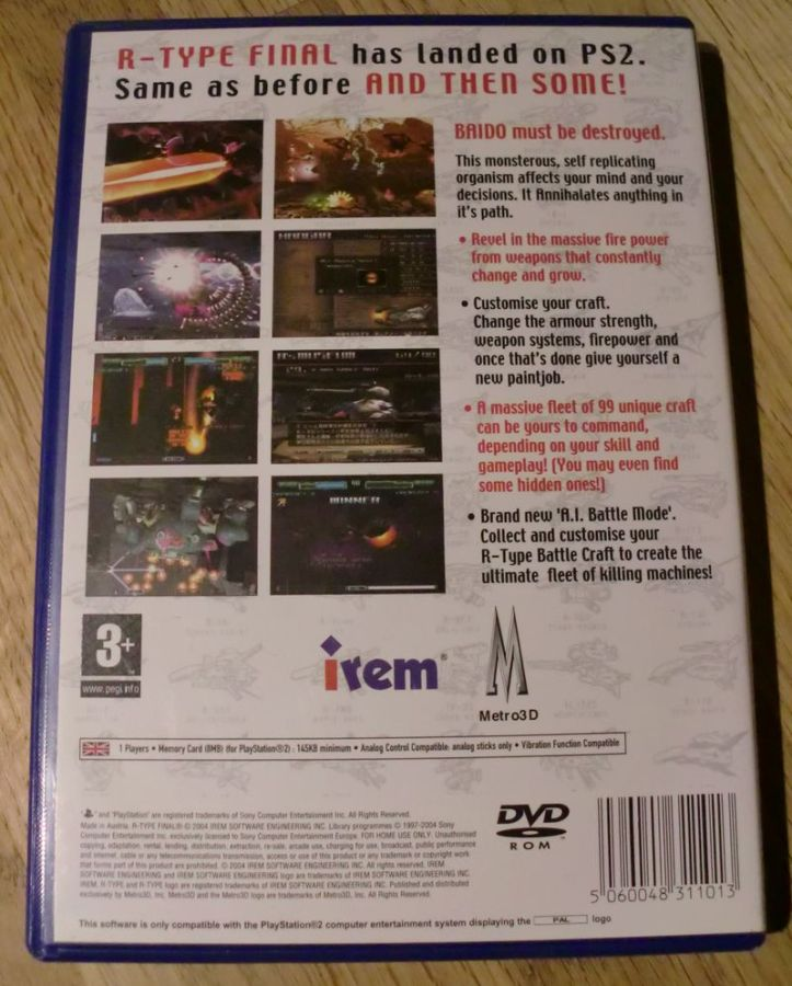 Here's the back of the box (photo by Old School Game Blog)