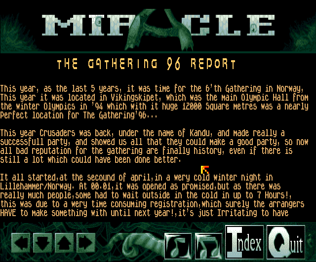 Party report from The Gathering in Norway (screenshot by Old School Game Blog for Classicamiga.com)