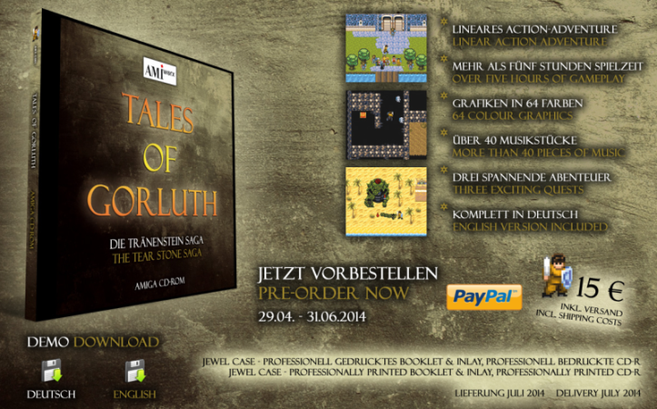 New commercial Amiga game - Tales of Gorluth: The Tear Stone Saga
