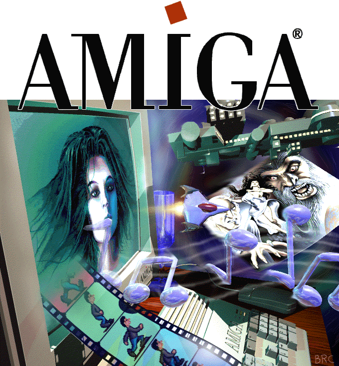 This was the picture that was on the official Amiga t-shirts in the latter half of the 90's. Looks cool! :)