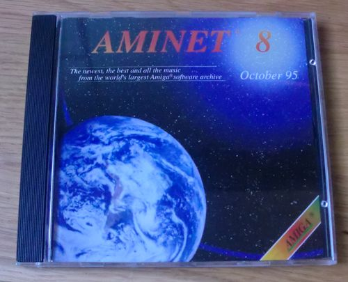 This is Aminet 8. It contains hundreds of MB's of Amiga stuff. This was actually my first Amiga CD ever!! (photo by Old School Game Blog)