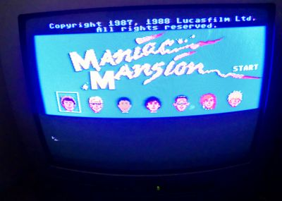 There it is - Maniac Mansion! (photo by Old School Game Blog)