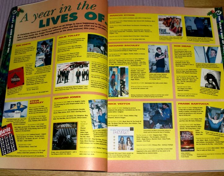 Staff of Amiga Format tells us about their year (photo by Old School Game Blog)