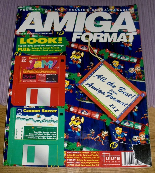 The cover of Amiga Format issue 53 (photo by Old School Game Blog)