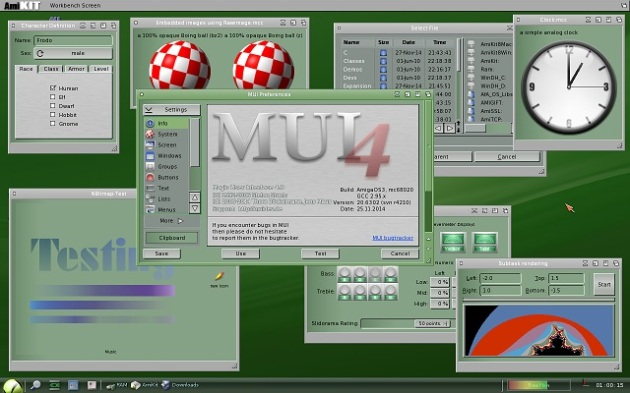 AmiKit with MUI 4 (screenshot taken from AmiKit homepage)