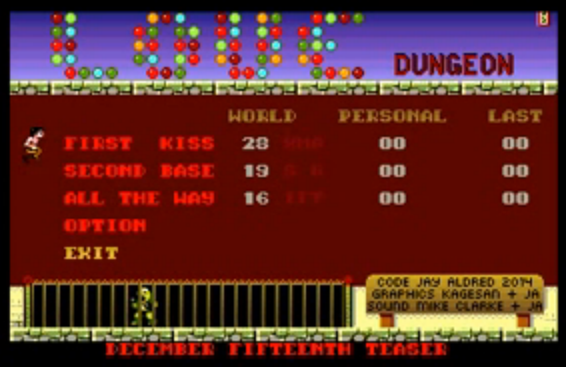 New Amiga game - Love Dungeon! (screenshot by Old School Game Blog)