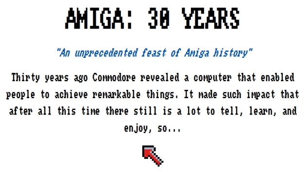 30 years of Amiga, 30 years of joy! (screenshot by Old School Game Blog)
