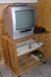 Amiga 1200 as a games machine (photo by Old School Game Blog)