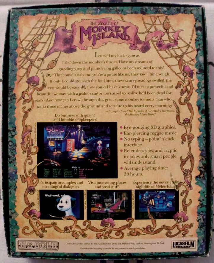 The back of Monkey Island (photo by Old School Game Blog)