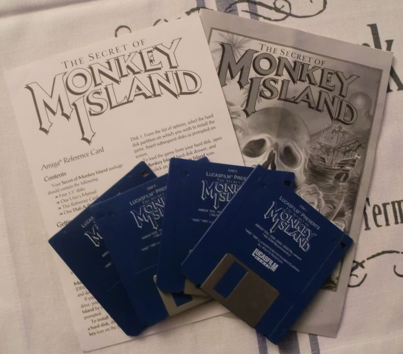 My Retro-gaming Collection: The Secret of Monkey Island (Amiga) (3/4)