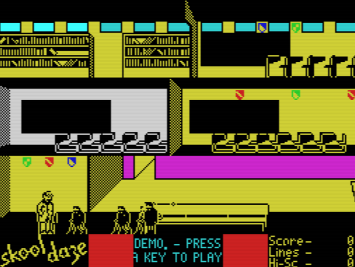 Skool Daze.. a true classic! (screenshot by Old School Game Blog)