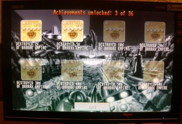 Battle Squadron Achievements (screenshot by Old School Game Blog)