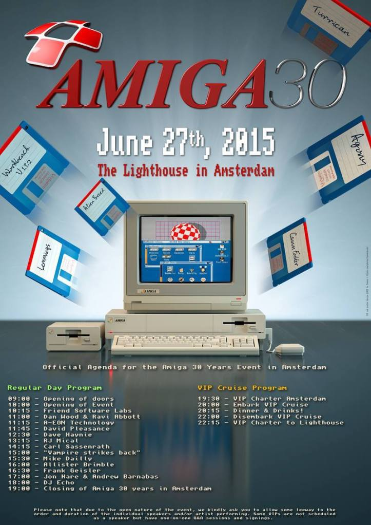 Amiga 30th in Amsterdam: Schedule