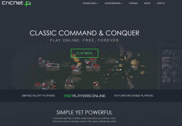 CnCNet (screengrab by Old School Game Blog)