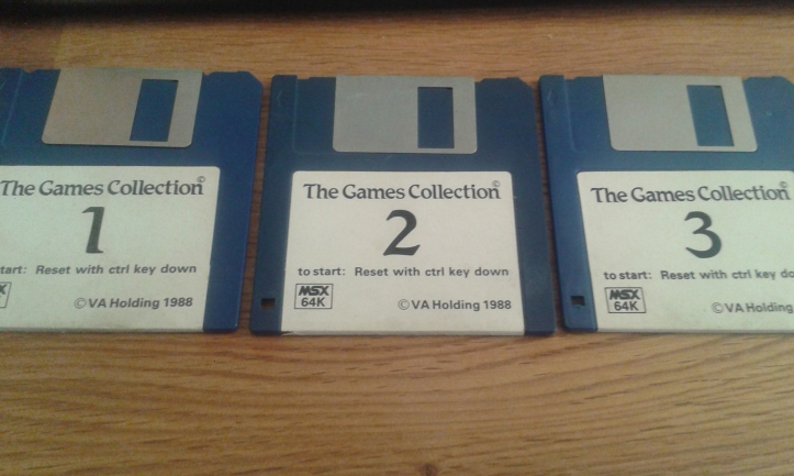 My old MSX disks (photo by Old School Game Blog)