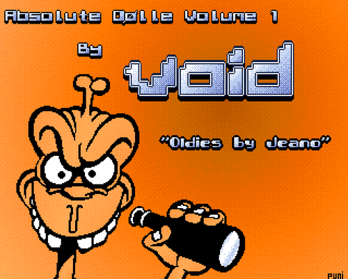 The title of Absolute Dølle by Void (screenshot by Old School Game Blog)